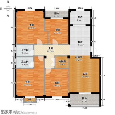 书苑小区4室0厅2卫1厨190.00㎡户型图