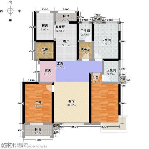 维多利亚夏郡2室1厅3卫1厨147.00㎡户型图