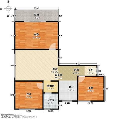 漓江明珠3室0厅1卫0厨90.00㎡户型图