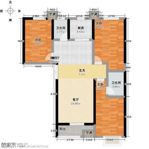 维多利亚夏郡3室1厅2卫1厨137.00㎡户型图