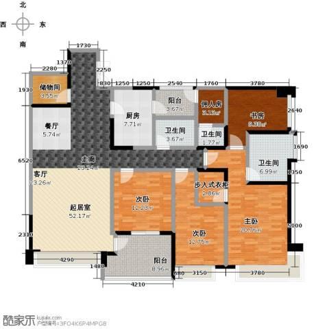 都城雅颂居4室0厅3卫1厨191.00㎡户型图