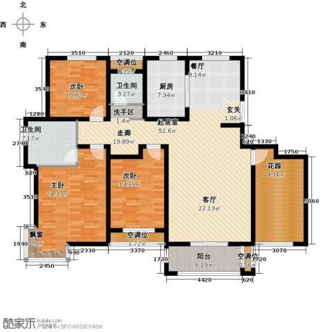 昊和沁园3室0厅2卫1厨200.00㎡户型图