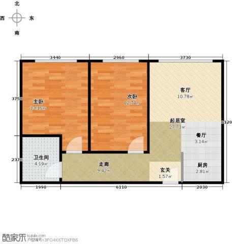 漓江明珠2室0厅1卫0厨62.00㎡户型图