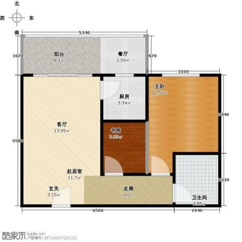 漓江明珠2室0厅1卫1厨56.00㎡户型图