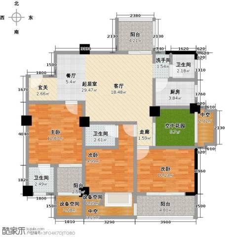 金山俪园3室0厅3卫1厨126.00㎡户型图