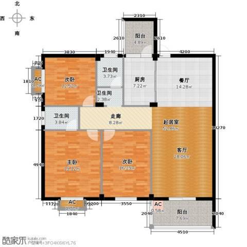 书苑小区3室0厅2卫1厨180.00㎡户型图