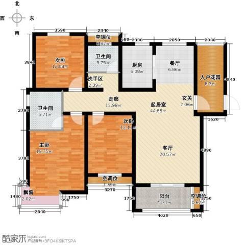 昊和沁园3室0厅2卫1厨175.00㎡户型图