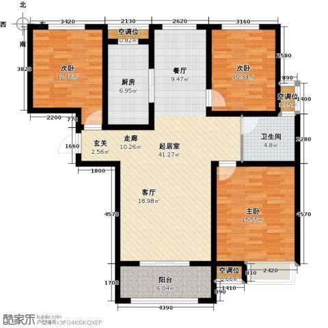 昊和沁园3室0厅1卫1厨144.00㎡户型图