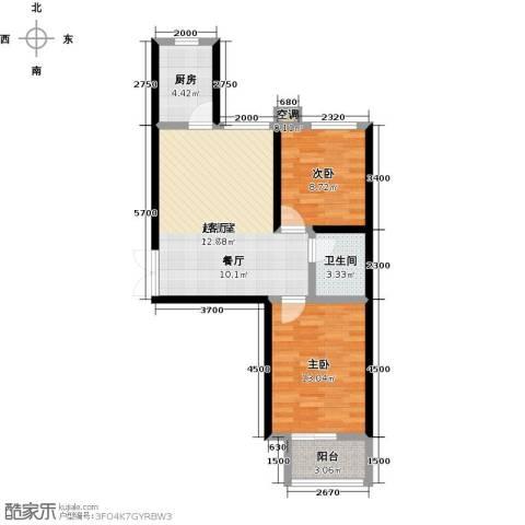 维多利亚夏郡2室0厅1卫1厨92.00㎡户型图