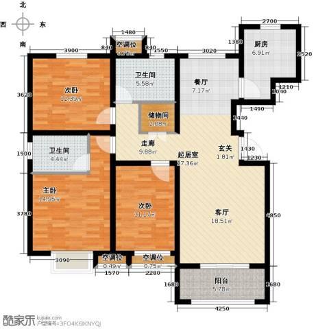 昊和沁园3室0厅2卫1厨149.00㎡户型图