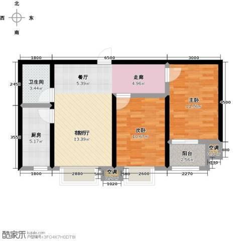 维多利亚夏郡2室1厅1卫1厨96.00㎡户型图