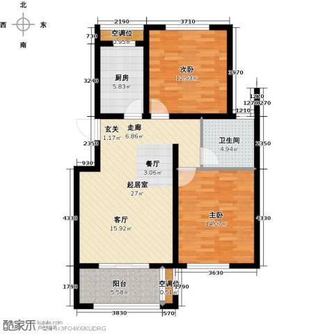 昊和沁园2室0厅1卫1厨103.00㎡户型图