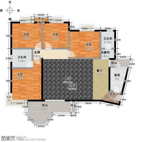 三元极第4室0厅2卫1厨138.00㎡户型图