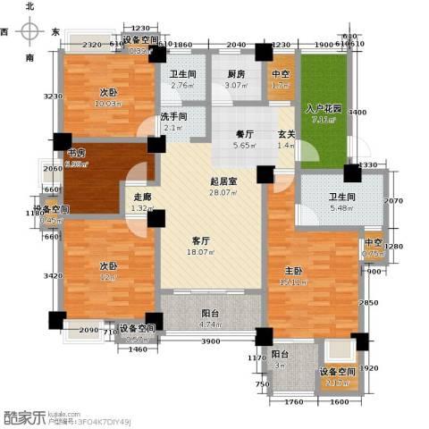 金山俪园4室0厅2卫1厨127.00㎡户型图