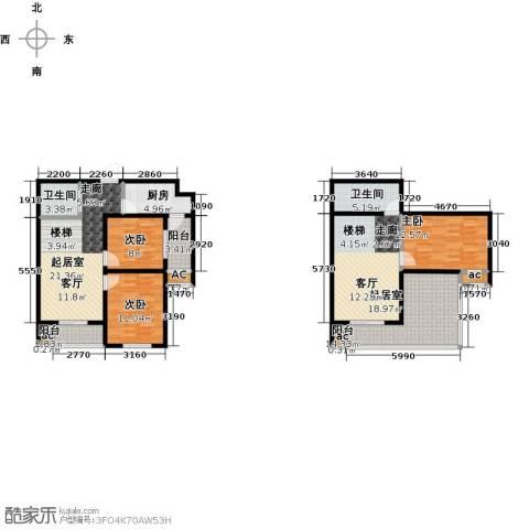 东北MALL3室0厅2卫1厨156.00㎡户型图