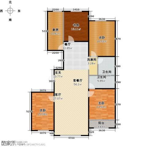 百福汇4室1厅2卫1厨188.00㎡户型图