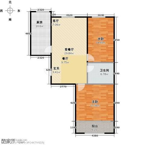 百福汇2室1厅1卫1厨112.00㎡户型图