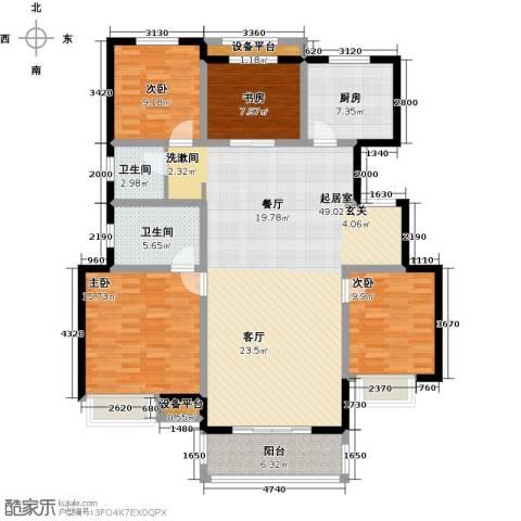 朝阳首府4室0厅2卫1厨135.00㎡户型图