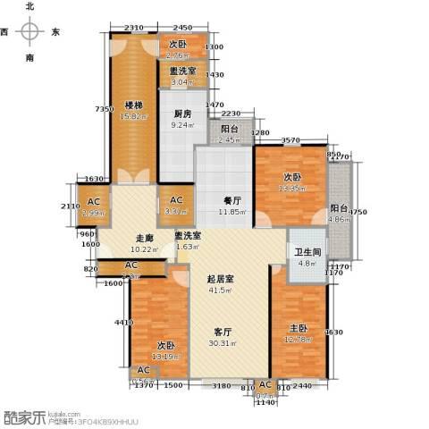 奥泰格林山水城4室0厅1卫1厨156.00㎡户型图