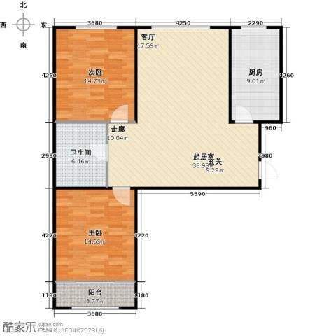 百福汇2室0厅1卫1厨114.00㎡户型图