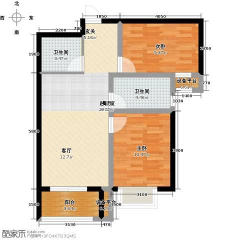 米苏阳光2室0厅2卫0厨88.00㎡户型图