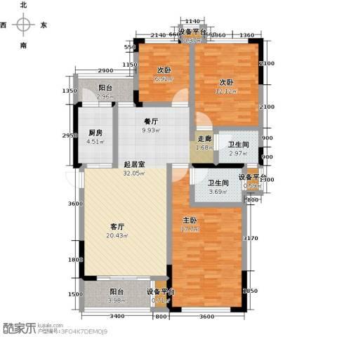 阳光英伦城邦3室0厅2卫1厨130.00㎡户型图