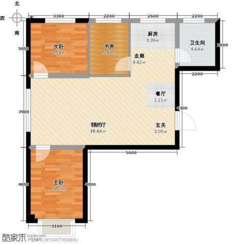 鑫城蓝湾3室1厅1卫0厨93.00㎡户型图