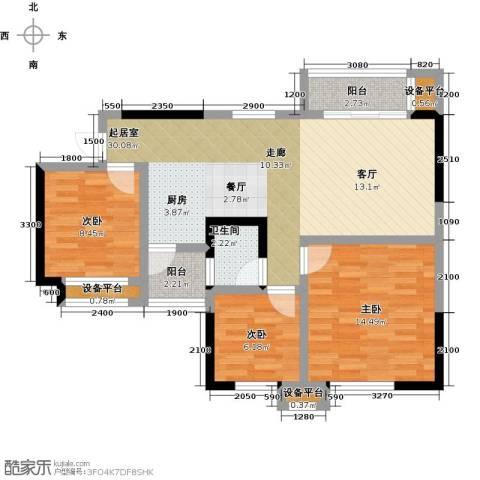 阳光英伦城邦3室0厅1卫0厨100.00㎡户型图