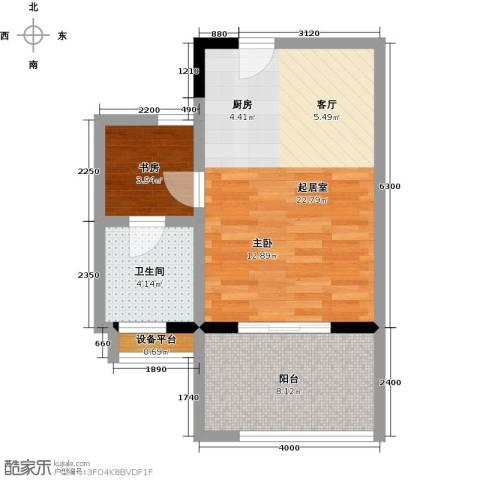 海景城1室0厅1卫0厨55.00㎡户型图