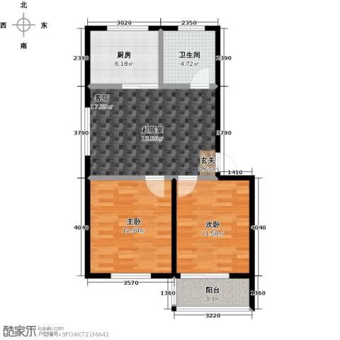 威达花园2室0厅1卫1厨65.00㎡户型图