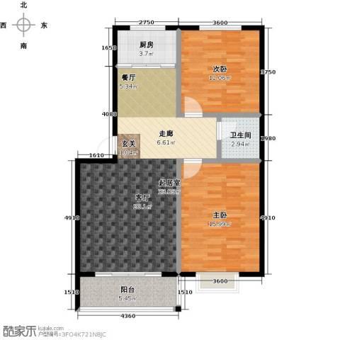威达花园2室0厅1卫1厨82.00㎡户型图