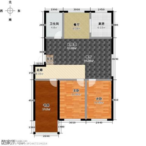 威达花园3室0厅1卫1厨100.00㎡户型图