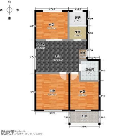 威达花园3室1厅1卫1厨78.06㎡户型图