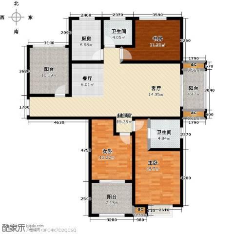 君河湾3室0厅2卫1厨169.00㎡户型图