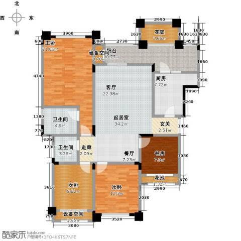 昕晖香缇漫城4室0厅2卫1厨119.36㎡户型图
