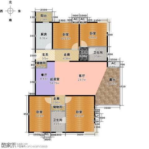 瑞丽江畔2卫1厨145.00㎡户型图