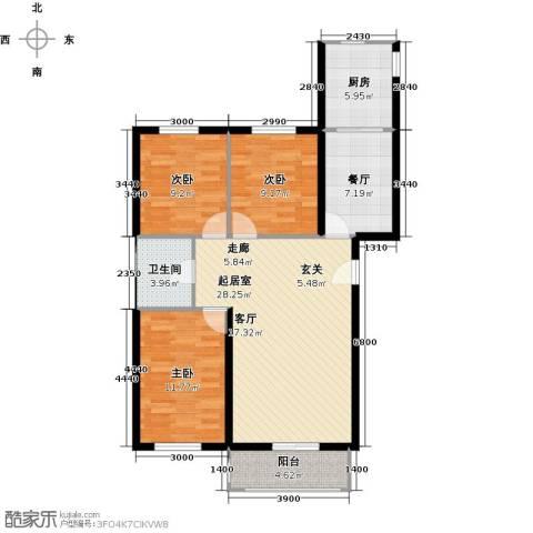 上第LOHAS3室1厅1卫1厨112.00㎡户型图