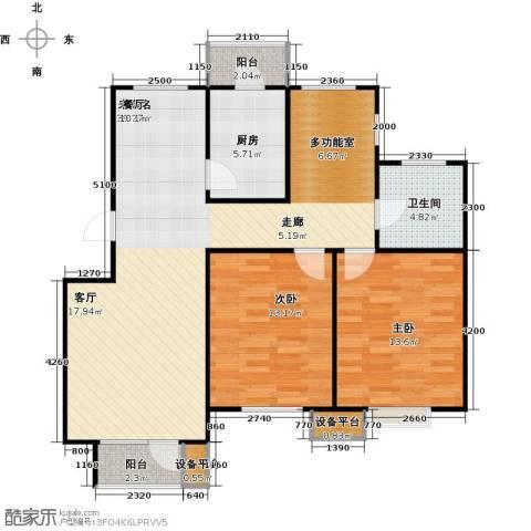 芒果郡2室0厅1卫1厨111.00㎡户型图