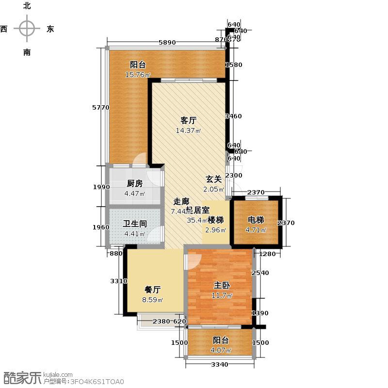 海岸金沙二期162.50㎡EF栋户型 三房二厅二卫(跃一层)户型3室2厅2卫