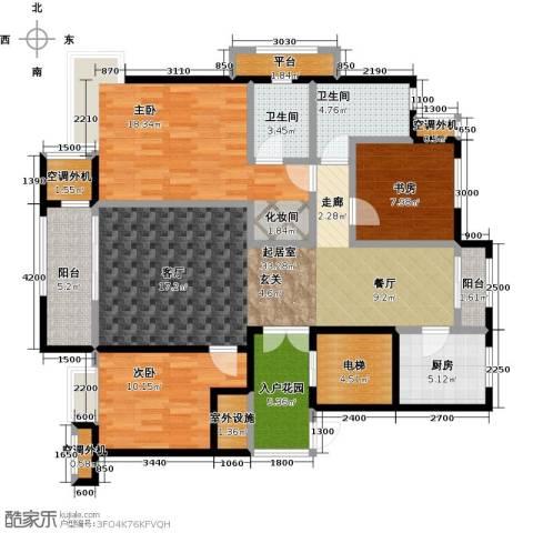 昆河壹号3室0厅2卫1厨125.00㎡户型图
