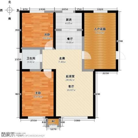 盛景公馆2室0厅1卫1厨101.00㎡户型图