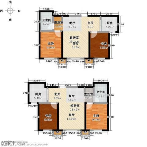 盛景公馆4室0厅2卫2厨100.70㎡户型图