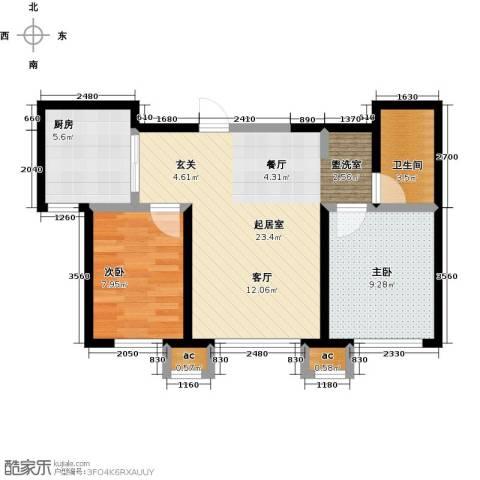 盛景公馆2室0厅1卫1厨78.00㎡户型图