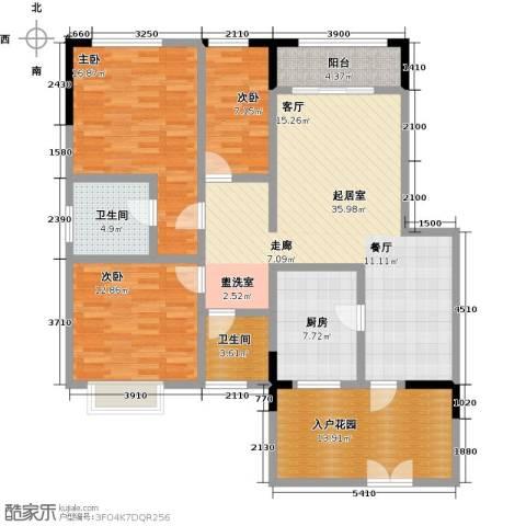 华天城市广场3室0厅2卫1厨142.00㎡户型图