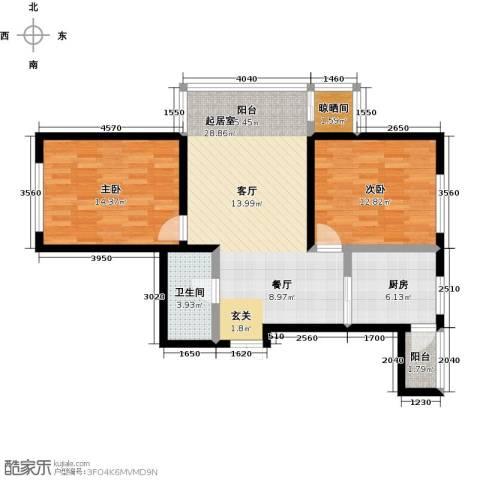 哈尔滨提拉米苏2室0厅1卫1厨100.00㎡户型图