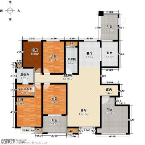君河湾4室0厅2卫1厨219.00㎡户型图
