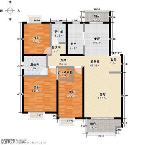 伟星玲珑湾3室0厅2卫1厨118.00㎡户型图