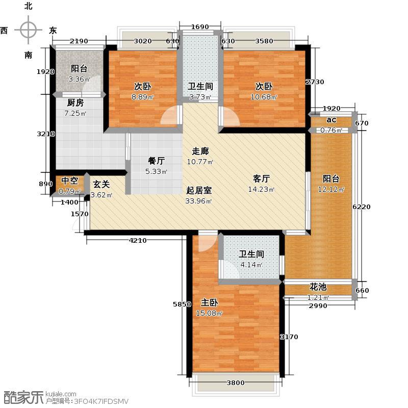 新大陆壹号・悦江户型3室2卫1厨