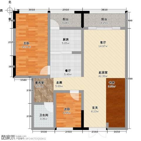 华天城市广场2室0厅1卫1厨114.00㎡户型图