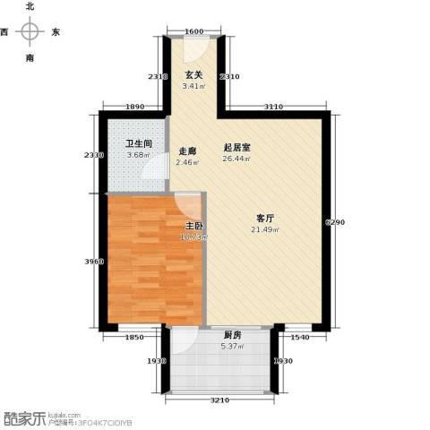 上第LOHAS1室0厅1卫1厨64.00㎡户型图